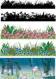 Five floral strips collection Stock Images