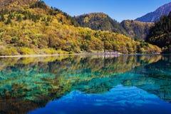 Five Flower Lake is lake in Jiuzhaigou Stock Photography