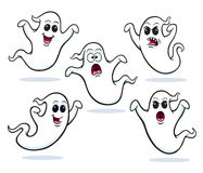 Five Flying Ghosts Royalty Free Stock Images