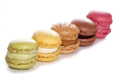 Five french Macaroons Stock Photos
