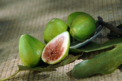 Five fresh figs Royalty Free Stock Photography