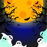 Five friendly ghosts Royalty Free Stock Image