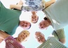 Five friends Stock Photo