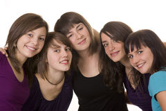 Five friends Stock Image