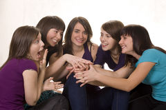 Five friends Royalty Free Stock Photos