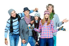 Five friends Stock Images