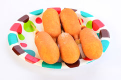 Five Frozen Corn Dogs Stock Image