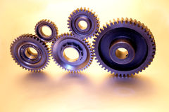Five gears Stock Image