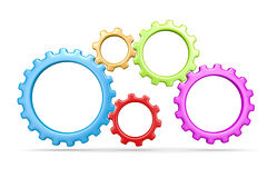Five Gears Stock Photos