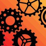 Five Gearwheels Stock Photo
