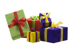 Five gift boxes Stock Photo