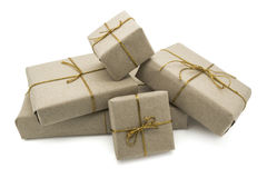Five gift boxes Royalty Free Stock Images