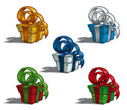 Five Gift Boxes Royalty Free Stock Image