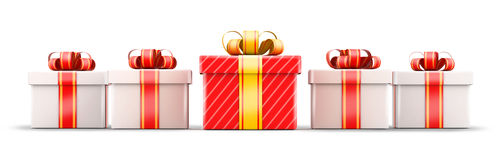 Five gift selection concept Stock Photo