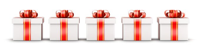 Five gifts selection concept Royalty Free Stock Images