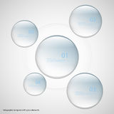Five glass rings template with blue color Stock Photo
