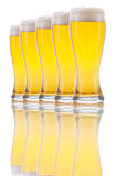 Five Glasses of Beer Stock Photos