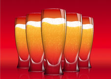 Five Glasses of beer Royalty Free Stock Photo