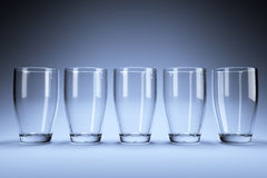 Five glasses in studio Stock Photography