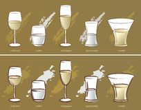 five glasses, vector Royalty Free Stock Photos