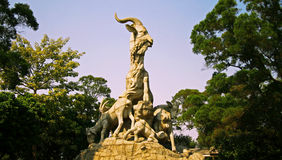 Five goats statue in Guangzhou city China Royalty Free Stock Photos