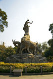 Five goats statue in Guangzhou city China Royalty Free Stock Images