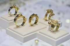 Five Golden Rings Royalty Free Stock Photo