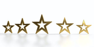 Five golden stars Stock Photos