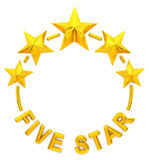 Five golden stars Royalty Free Stock Images