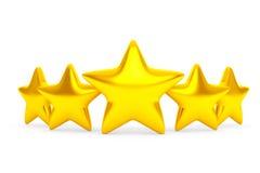 Five Golden Stars Stock Image