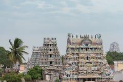 Five gopurams including Vellai at Shirangam temple. Royalty Free Stock Photography