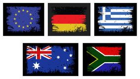 Five grange flags Stock Photo