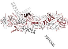 Five Great Sights To See Safaris Of Africa Live Text Background Word Cloud Concept Royalty Free Stock Image