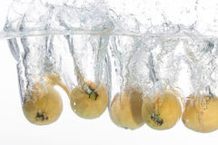Five guavas Stock Photo