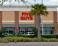 Five Guys Restaurant Royalty Free Stock Photography