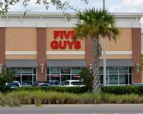 Five Guys Restaurant. Modern Five Guys Restaurant in Coastal Community Royalty Free Stock Photography