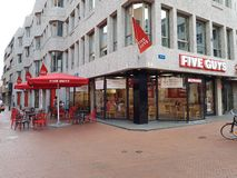 Five Guys restaurant in the Netherlands Royalty Free Stock Photo