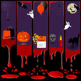 Five Halloween banners. Stock Photography