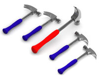 Five hammers Stock Images