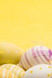 Five hand painted easter egg Stock Photos