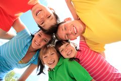 Five happy children Royalty Free Stock Photos