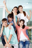 Five happy friends Royalty Free Stock Image