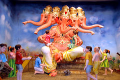 Five headed Lord Ganesha Royalty Free Stock Images