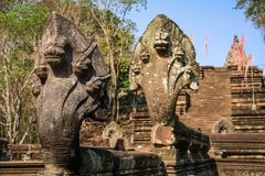 Free Five Headed Snakes Of The Phanom Rung Temple Around Nang Rong, Buriram, Thailand. Stock Images - 123475194