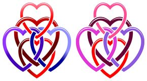 Free Five Hearts Royalty Free Stock Images - 25953129