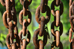 Five Heavy Chains Royalty Free Stock Photos