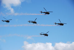 Five helicopter Royalty Free Stock Image