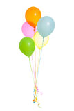 Five Helium balloons isolated Stock Images