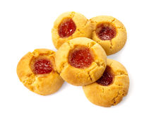 Five Home Baked Jam Cookies Royalty Free Stock Photo