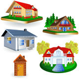 Five houses Royalty Free Stock Photo